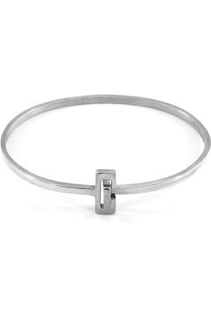 Men Bracelets - Men's Artisanal Silver Soames Gate Midi Bangle ANCHOR & CREW