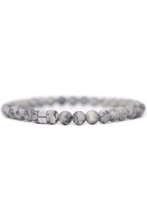 Men Bracelets - Men's Artisanal Grey Stainless Steel You Rock! Tom Astin