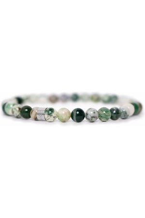 Men Bracelets - Men's Artisanal Green Stainless Steel Light Tom Astin