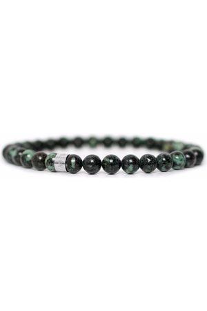 Men Bracelets - Men's Artisanal Green Stainless Steel With Envy Tom Astin