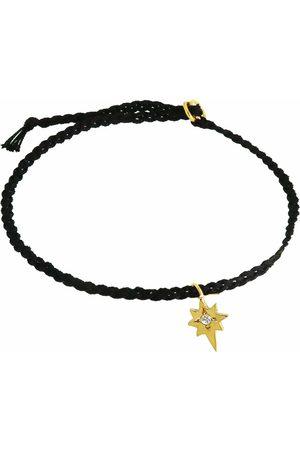 Yvonne Henderson Tiny North Star Friendship Bracelet on Black Silk