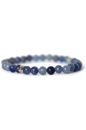 Men Bracelets - Men's Artisanal Blue Stainless Steel Arctic Skies Tom Astin