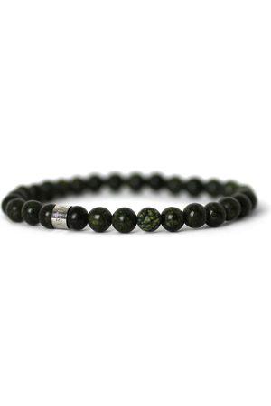Men Bracelets - Men's Artisanal Green Stainless Steel Ever Tom Astin