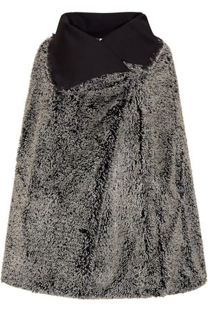Women Ponchos & Capes - Women's Artisanal Black Fabric Grace Cape Grey Bo Carter