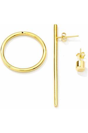 Women Studs - Women's Artisanal Gold Brass Bold Earring & Bold Ear Stud MvdT Collection