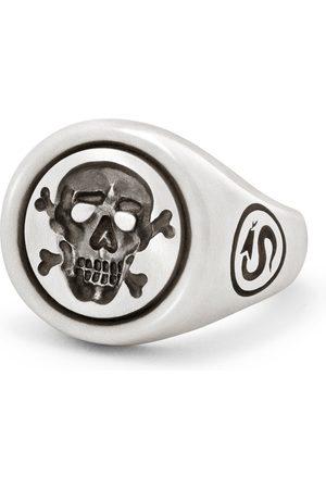 Snake Bones Jolly Roger Skull & Bones Signet Ring