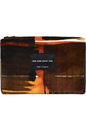 Men Wallets - Men's Velvet Abstract Check Zip Pouch ONE NINE EIGHT FIVE