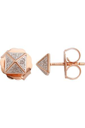 Women Studs - Women's Artisanal Gold 18K Spike Earring With Diamond Stud Earrings Jewelry