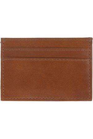 Men Wallets - Men's Brown Leather Luxe Tan Card Holder VIDA VIDA