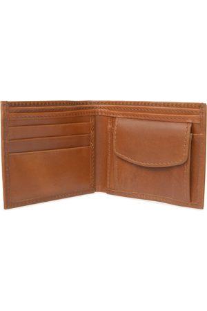 Men Wallets - Men's Brown Leather Classic Tan Wallet With Coin Pocket VIDA VIDA