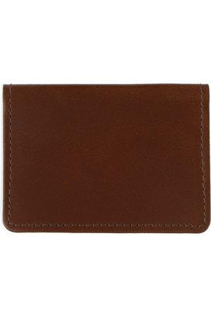 Men Wallets - Men's Brown Leather Classic Dark Travel Card Holder VIDA VIDA