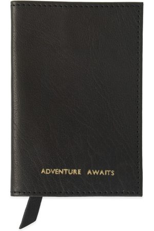 Men Wallets - Men's Black Leather Adventure Awaits Passport Cover VIDA VIDA