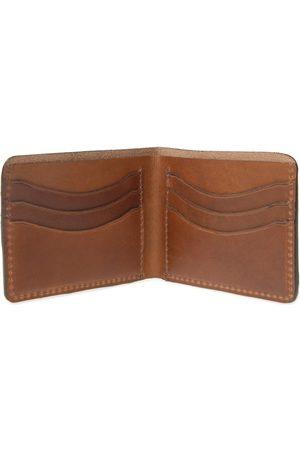 Men Wallets - Men's Brown Leather Luxe Tan Wallet For Cards VIDA VIDA