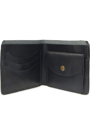 Men Wallets - Men's Black Leather Luxe Wallet With Coin Pocket VIDA VIDA