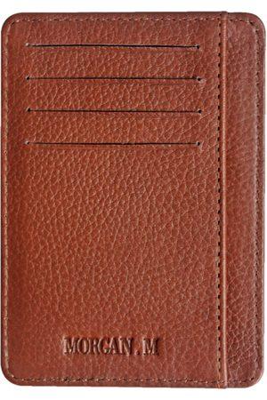 Men Wallets - Men's Brown Leather The Tan Bran MORGAN.M
