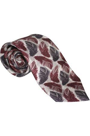 Men Neckties - Men's Artisanal Red Silk The Feather Tie Maroon Emily Carter