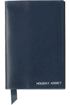 Men Wallets - Men's Navy Leather Classic Passport Cover VIDA VIDA
