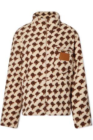 Rokh Leather Patch Fleece Jacket