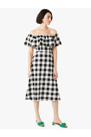 Kate Spade Gingham Off-The-Shoulder Dress