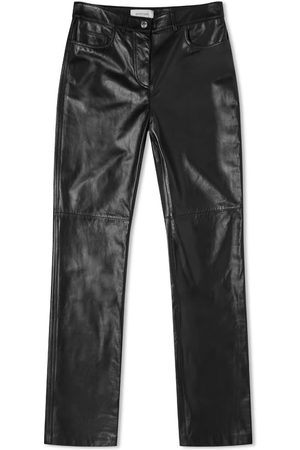 Sportmax Men Leather Pants - Timor Leather Trouser