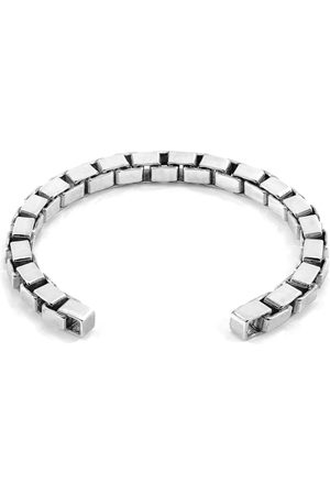 Men Bracelets - Men's Artisanal Silver Lateen Sail Chain Bangle ANCHOR & CREW
