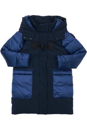 BOMBOOGIE Hooded Nylon Puffer Coat