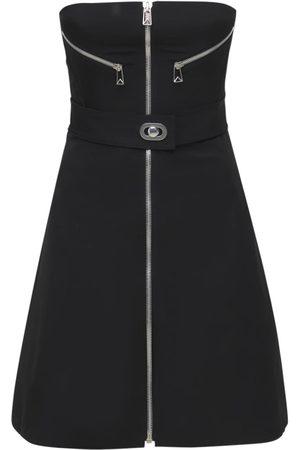 Bottega Veneta Stretch Nylon Bomber Mini Dress