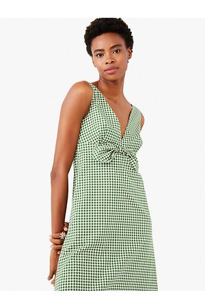 Kate Spade Mini Gingham Bow Dress, Banana Leaf