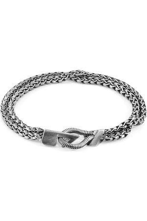 Men Bracelets - Men's Artisanal Silver Brixham Mooring Chain Bracelet ANCHOR & CREW