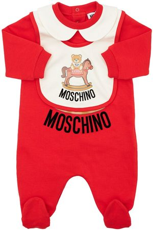 MOSCHINO Toy Horse Cotton Rompers & Bibs