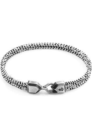 Anchor & Crew White Noir Cromer & Rope Bracelet