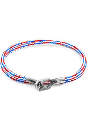Anchor & Crew Project-Rwb Red White & Blue Tenby Silver & Rope Bracelet
