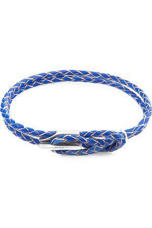 Anchor & Crew Royal Blue Padstow & Braided Leather Bracelet