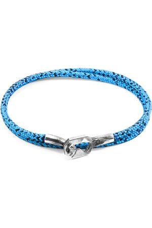 Men Bracelets - Men's Artisanal Blue Noir Tenby Silver & Rope Bracelet ANCHOR & CREW
