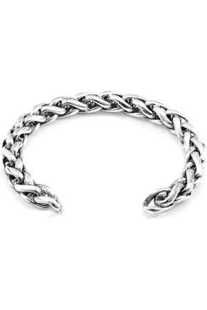 Men Bracelets - Men's Artisanal Silver Genoa Sail Chain Bangle ANCHOR & CREW