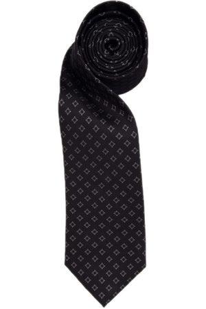 Men Neckties - Men's Navy Silk & Steel Diamond Tie Hector Powe