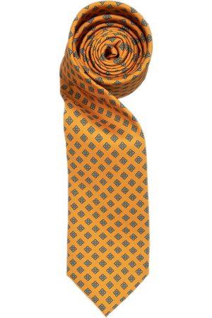 Men Neckties - Men's Gold Silk Dull Diamond Tie Hector Powe