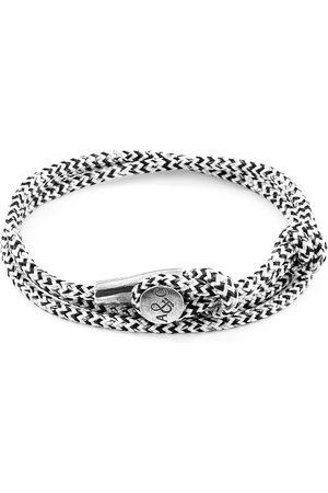 Men Bracelets - Men's Artisanal White Noir Dundee Silver & Rope Bracelet ANCHOR & CREW