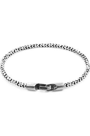Men Bracelets - Men's Artisanal White Silver & Noir Rope Talbot Bracelet ANCHOR & CREW