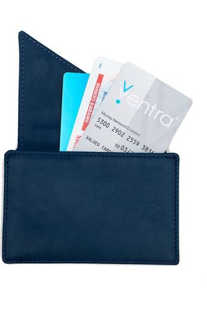 Holly & Tanager Women Purses - Insider Leather Card Holder Wallet In Navy