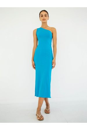 The Line By K The Avalon Dress in Electric Turquoise