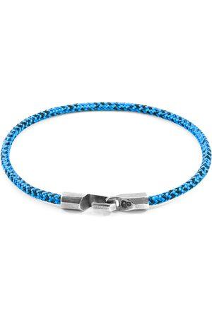 Anchor & Crew Men Bracelets - Noir Talbot Rope & Silver Bracelet