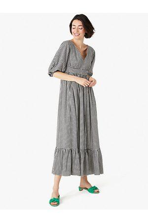 Kate Spade Mini Gingham Bodega Midi Dress