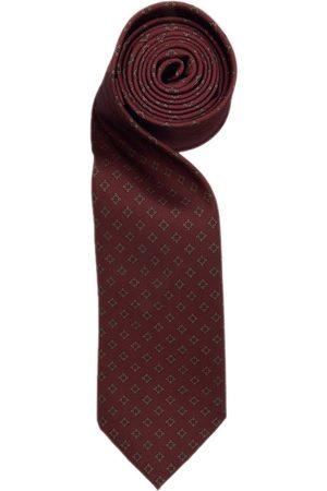 Men Neckties - Men's Red Silk Maroon Diamond Tie Hector Powe