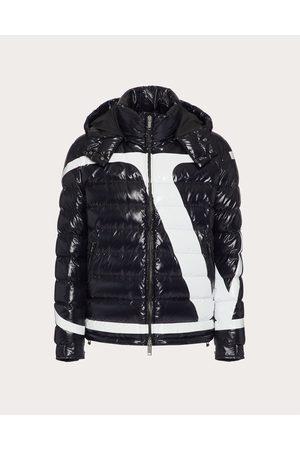 VALENTINO Men Puffer Jackets - Nylon Puffer Jacket With Vlogo Signature Print Man / 100% Poliammide 46