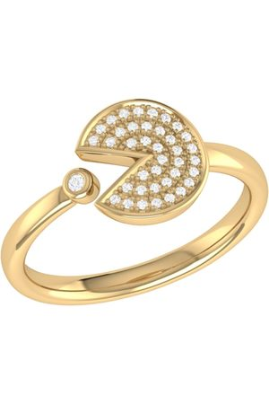 LMJ Men Rings - Pac-Man Candy Ring In 14 Kt Yellow Vermeil On Sterling Silver