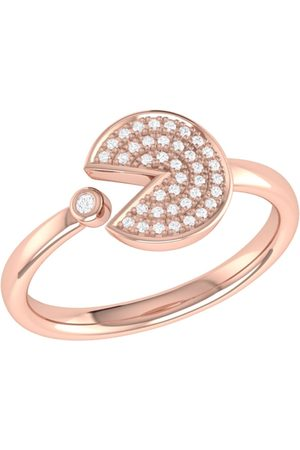 LMJ Men Rings - Pac-Man Candy Ring In 14 Kt Rose Gold Vermeil On Sterling Silver