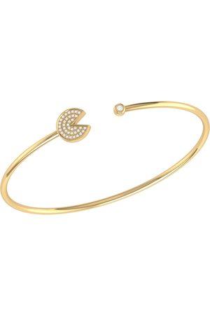 Men Bracelets - Women's Silver 14ct Yellow Gold Vermeil Pac-Man Candy Cuff LMJ