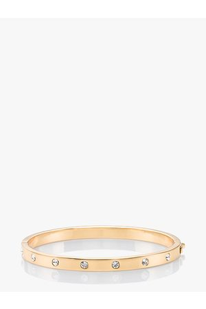 Kate Spade Set In Stone Hinged Bangle, Clear/
