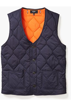 Kate Spade Men Gilets - Quilted 3-In-1 Button Out Vest, Navy/